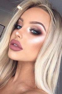 макияж у блондинки